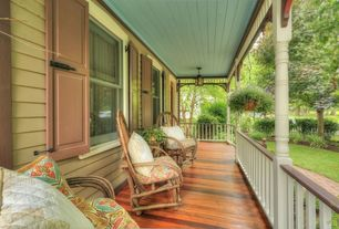 Traditional Porch with Wrap around porch, Pathway, Fence, Deck Railing, double-hung window