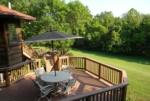 Rustic Deck with Casement, Deck Railing