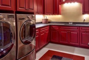 Country Laundry Room with Armstrong Imperial Texture VCT 12 in. x 12 in. Charcoal Standard Excelon Commercial Vinyl Tile