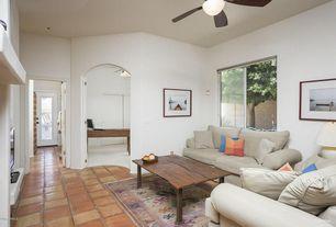 Budget Gray Living Room Terracotta Tile Floors Zillow Digs