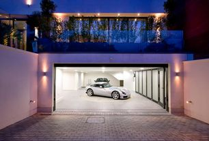 Contemporary Garage with Concrete tile , Wall sconce