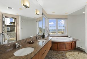 Contemporary Master Bathroom with Double sink, Master bathroom, Simple granite counters, Simple Granite, European Cabinets