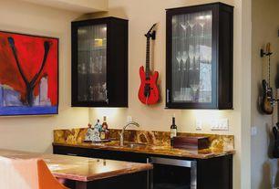 Modern Bar with High ceiling, Built-in bookshelf
