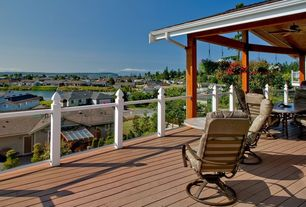 Traditional Deck with Outdoor kitchen