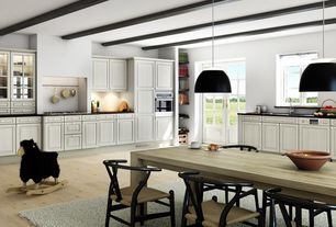 Contemporary Kitchen with Dorado Soapstone Pa Oiled/Waxed, Flush, L-shaped, Glass panel, Pendant light, Raised panel