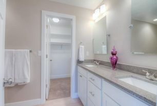 Contemporary Master Bathroom with Kitchen Craft, Coventry Cabinet Door Style, Undermount sink, Master bathroom, Double sink