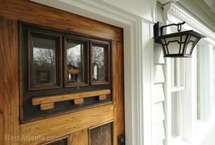 Craftsman Front Door with double-hung window, Glass panel door