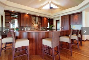 Contemporary Kitchen with Destiny: slab cabinets, Breakfast bar, European Cabinets, L-shaped, Flush, Onyx, Exposed beam
