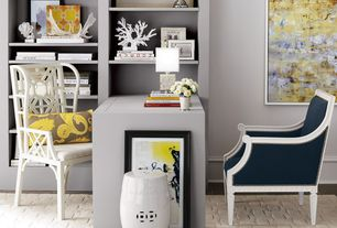 Contemporary Home Office with Paint, Standard height, Faux Spike Coral, Woodland imports ceramic garden stool
