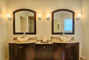 Contemporary Master Bathroom with Signature Hardware - Sidonie Single-Hole Bathroom Faucet, Master bathroom, Vessel sink