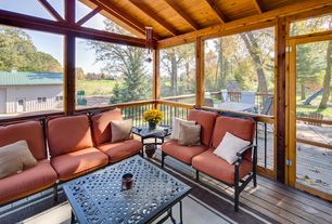Rustic Porch with Screened porch, French doors