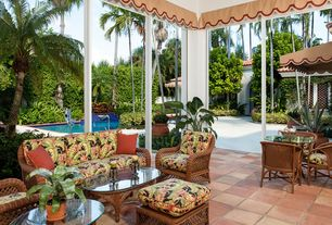 Tropical Patio with Fence, exterior stone floors