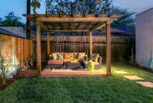 Rustic Patio with Fence, Pathway, Trellis, exterior tile floors, exterior terracotta tile floors