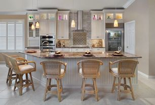 Contemporary Kitchen with Hospitality rattan key west indoor swivel rattan & wicker 24 in. counter stool with cushion