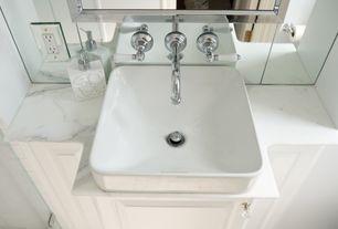 Traditional Master Bathroom with Raised panel, Flush, Master bathroom, Kohler Vox Square Vessel, Vessel sink