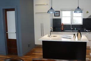 Contemporary Kitchen with MSI  Elegant White Marble, paint2, Paint1, MSI Absolute Black Granite