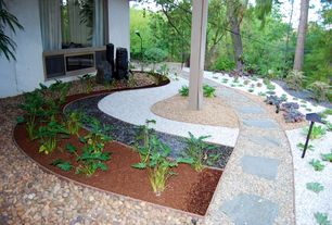 Contemporary Landscape/Yard with Greensmix 0.5-cu ft Marble Chip, Lowes Natural Patio Stone