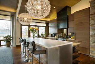 "Contemporary Kitchen with MASKROS pendant lamp Diameter: 22 "" Cord length: 4 ' 7 "", Corian- Designer White, Pendant light"