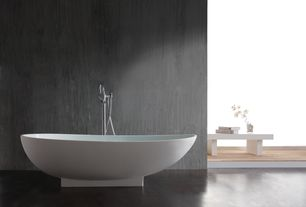 Contemporary Master Bathroom with Freestanding, Concrete floors, Master bathroom, Bathtub, Standard height