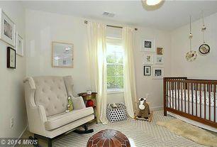 Kids Bedroom with Carpet, Shear Style Natural Single Sheepskin Area Rug Natural, Nursery, Nurseryworks Empire Rocker
