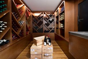 Contemporary Wine Cellar with Wine Country Gourmet Gala Gift Basket, Designer series 132-bottle solid diamond cubes wine rack