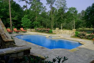 Traditional Swimming Pool with exterior stone floors, Pathway, Other Pool Type, Patio heaven palisades chaise lounge  (