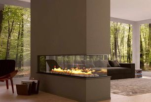Contemporary Living Room with Paint 1, Fire stones