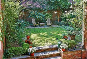 Rustic Landscape/Yard with Coral coast richmond adirondack chair set with free side table