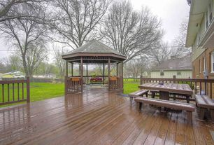 Traditional Deck with Gazebo, Fence, Pathway
