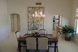 Asian room with Standard height, Paint 1, Carpet, Traditiona, Chandelier