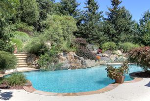 Rustic Swimming Pool with Pathway, exterior stone floors, Other Pool Type
