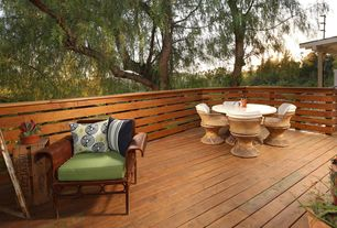 Contemporary Deck with Outdoor seating, Wood decking