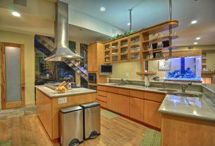 Kitchen with Island range hood, MSI Granite Countertops in Caribbean Green, Paint 1, Paint 2