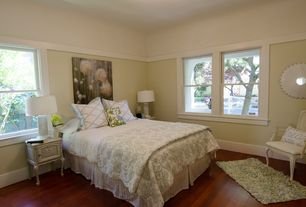 Traditional Master Bedroom with Hardwood floors