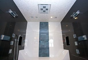 Modern Master Bathroom with Arched window, Handheld showerhead
