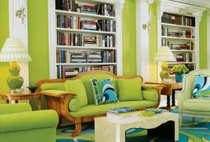 Eclectic Living Room with Layla Grace Bungalow 5 Emilia Light Green Table Lamp Base, bedroom reading light, Carpet, Paint 2