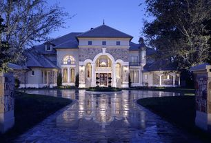 Traditional Exterior of Home with Stone pavers, Classical order