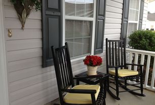 Traditional Porch with exterior tile floors, Wrap around porch