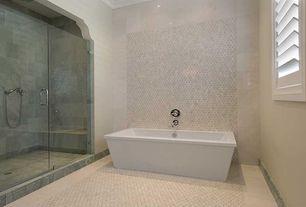 Modern Full Bathroom with Choose Frameless Pivot Hinge Shower Door Configurations, Crown molding, frameless showerdoor