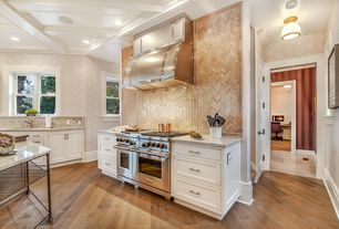 Traditional Kitchen with Sweet honey onyx chevron mosaic polished tiles (box of 10 sheets), interior wallpaper, L-shaped