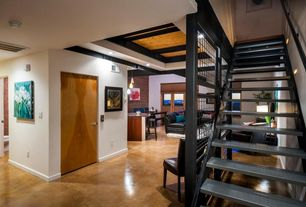 Modern Staircase with High ceiling, Floating staircase