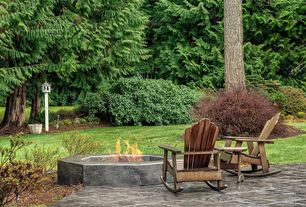 Rustic Patio with Fire pit, exterior stone floors