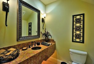 Eclectic Powder Room with Undermount sink, Onyx counters, Onyx, Powder room, Wall sconce