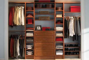 Traditional Closet with Impressions 25 in. dark cherry deluxe hutch closet kit, Carpet, Built-in bookshelf