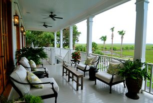 Traditional Deck with Outdoor lounge chair with onyx finish, Pottery barn, tall black drum table, Paint, Casement, Pathway