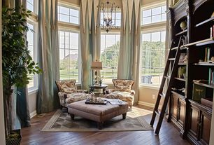 """Traditional Living Room with Chandelier, Built-in bookshelf, High ceiling, Hardwood floors, Wellington 32"""" Bookcase Wall Unit"""
