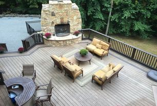 Contemporary Deck with outdoor pizza oven, 2 in. x 4 in. x 10 ft. Construction Select Pressure-Treated Lumber, Fence
