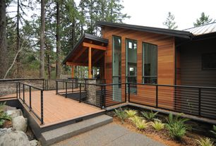 Contemporary Deck with Pathway, exterior tile floors