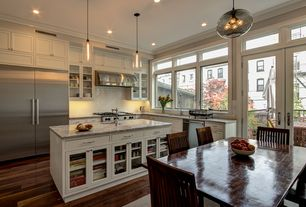 Traditional Kitchen with Paint 1, Canyon Creek Brentwood Recessed Panel Cabinet, Canyon Creek RFG Door Front