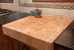 Craftsman Kitchen with Florence adams   [+] rollover to zoom or click to enlarge  maple end grain butcher block island tops